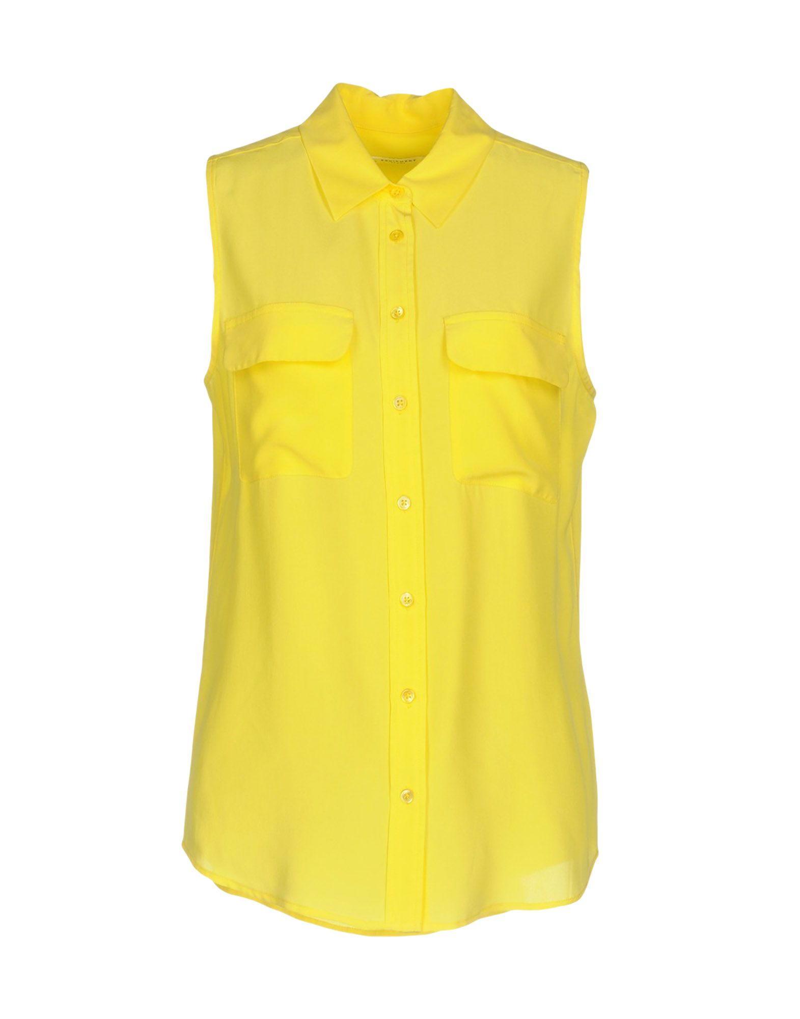 amp; Silk Yellow In Shirts Equipment ModeSens Femme Blouses 4Rq788Pn