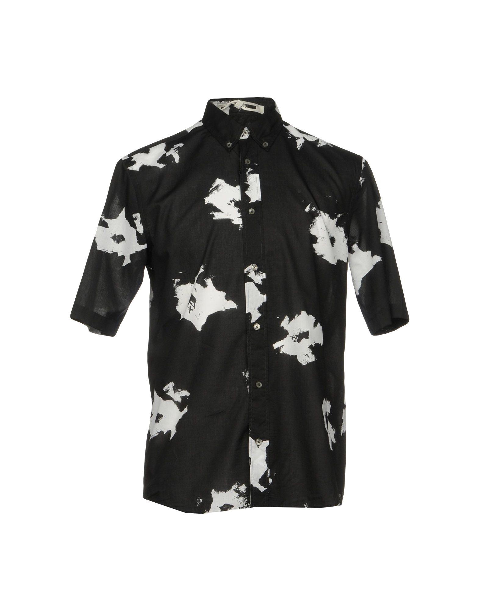 《送料無料》McQ Alexander McQueen メンズ シャツ ブラック 52 コットン 100%