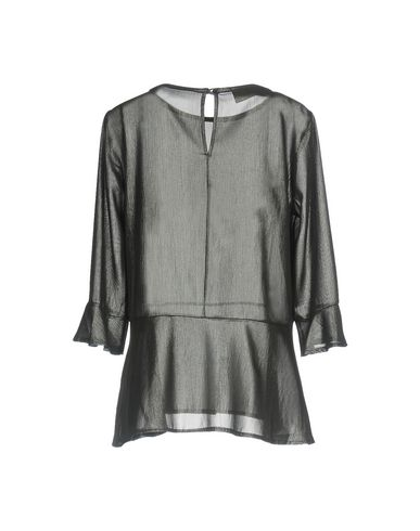 Фото 2 - Женскую блузку KAOS JEANS цвет стальной серый