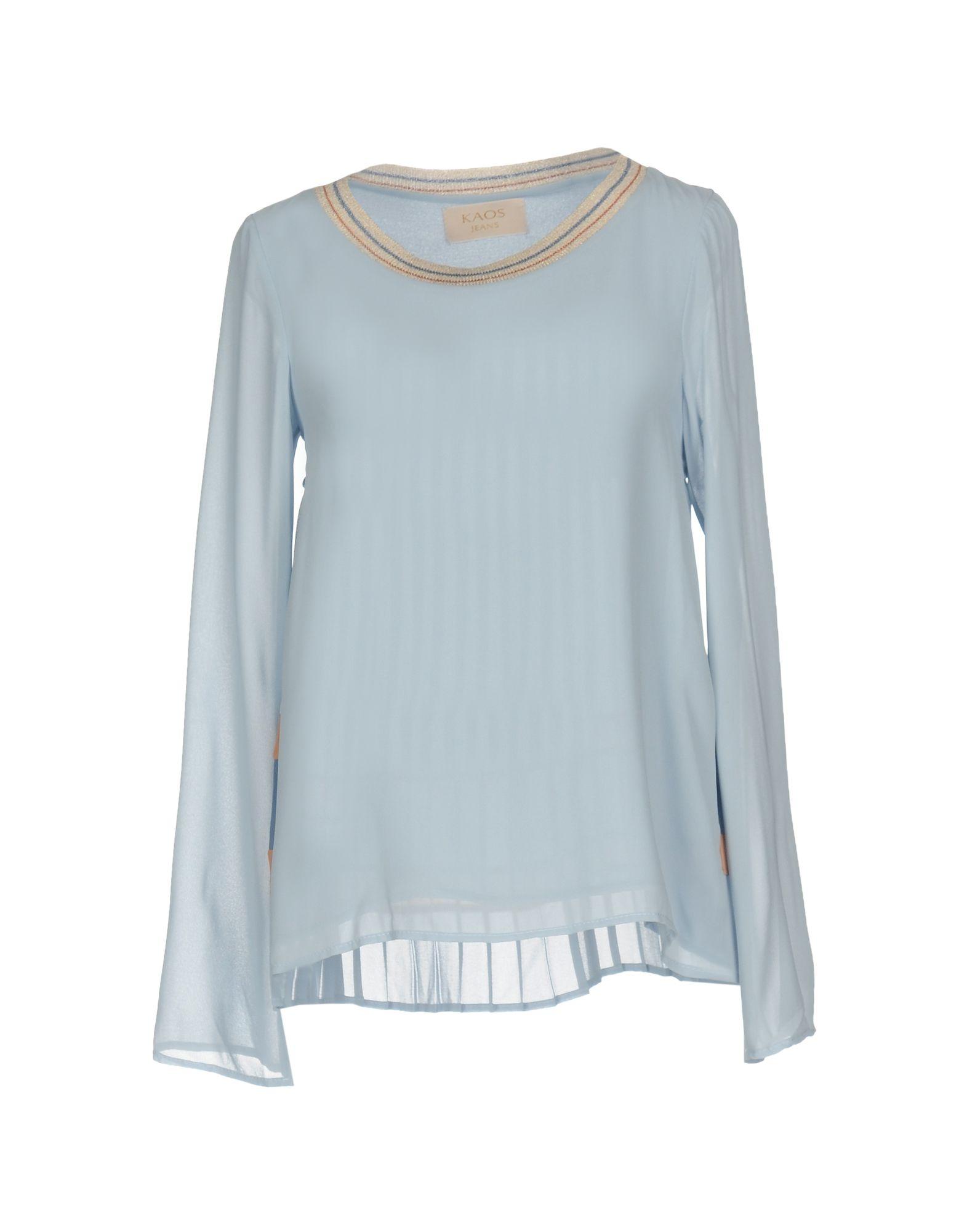 KAOS JEANS Damen Bluse Farbe Himmelblau Größe 6