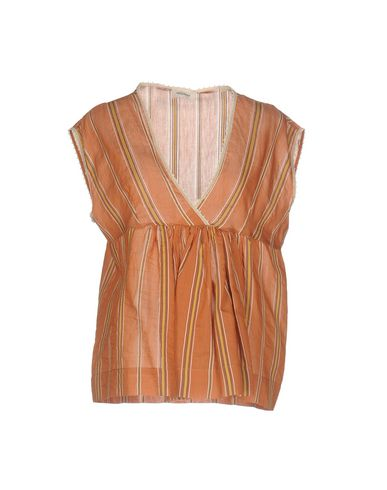 Фото - Женскую блузку  ржаво-коричневого цвета