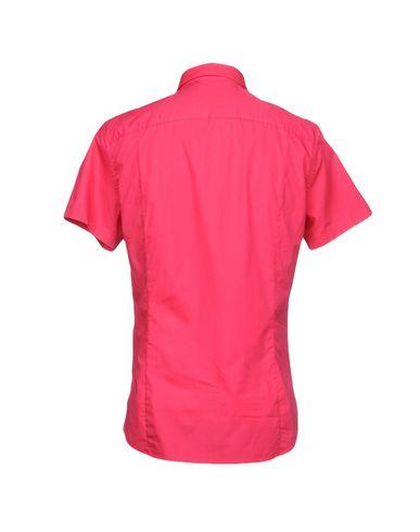 Фото 2 - Pубашка цвета фуксия