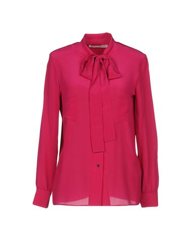 Фото - Pубашка розовато-лилового цвета