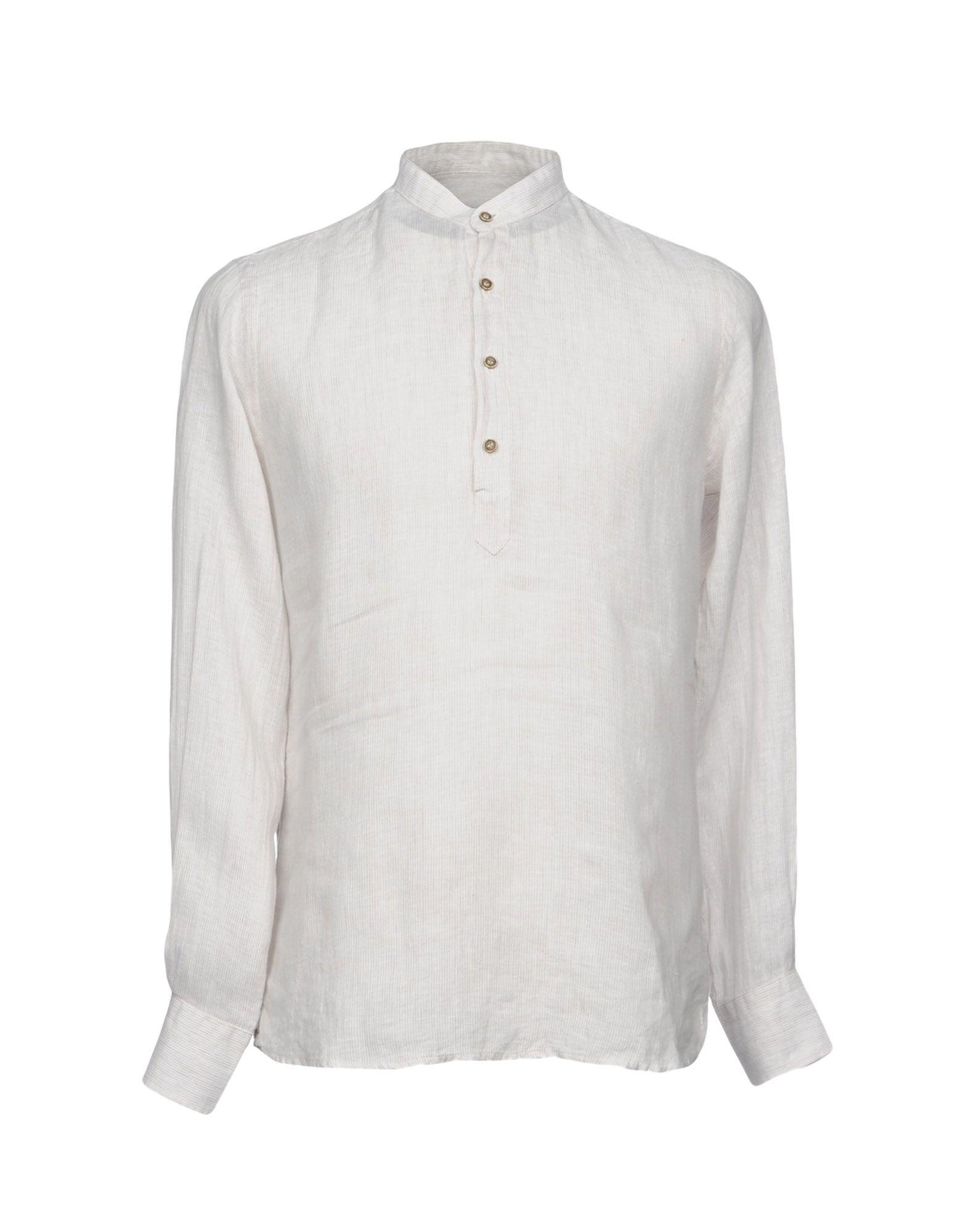 《セール開催中》PAUL MIRANDA メンズ シャツ ライトグレー S 麻 100%