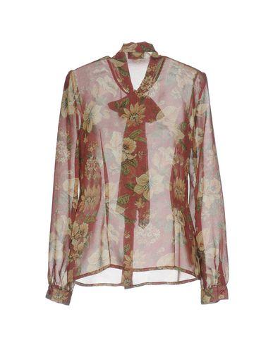 Фото 2 - Pубашка от ERMANNO DI ERMANNO SCERVINO красно-коричневого цвета