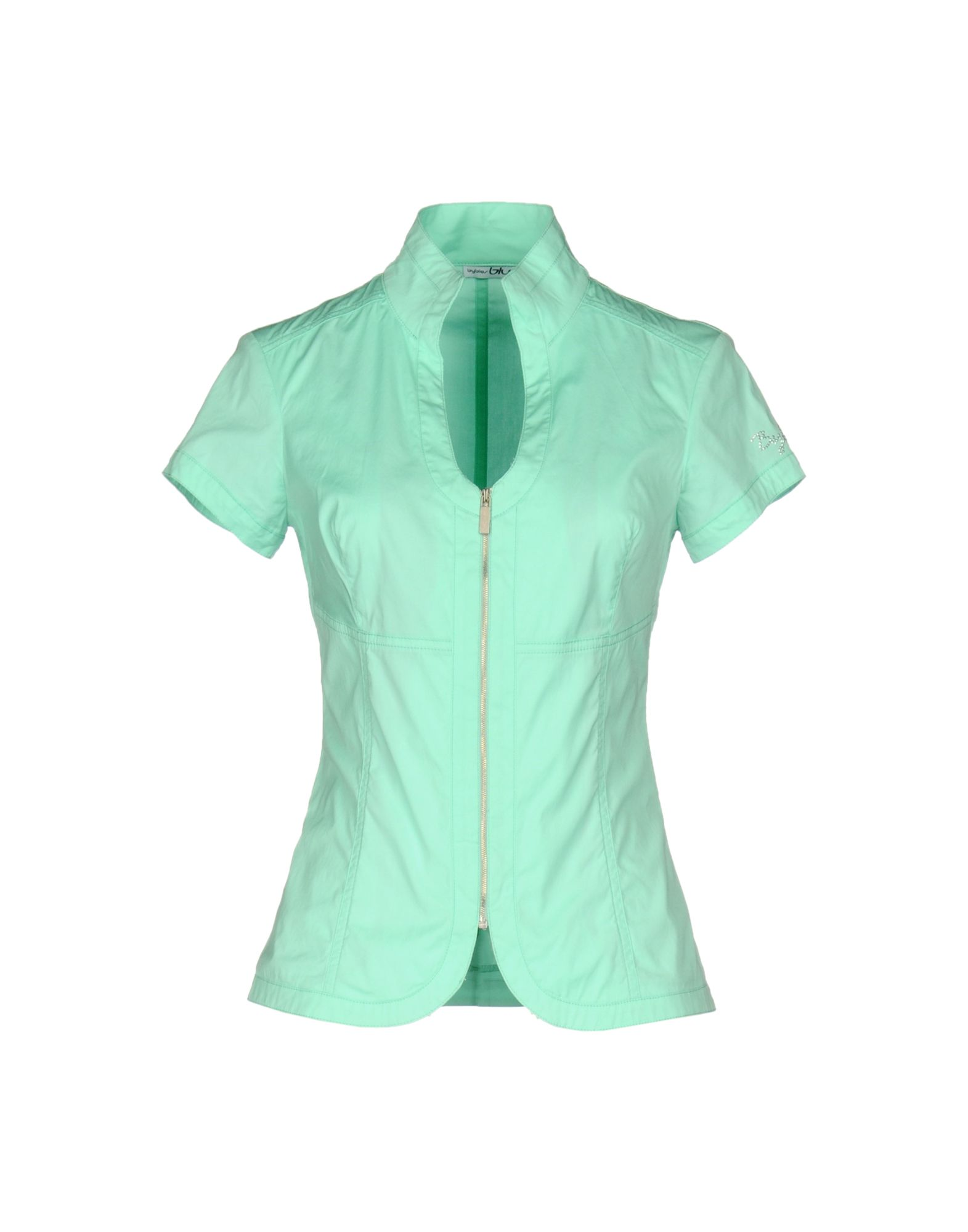 BLU BYBLOS Damen Hemd Farbe Säuregrün Größe 5 - broschei