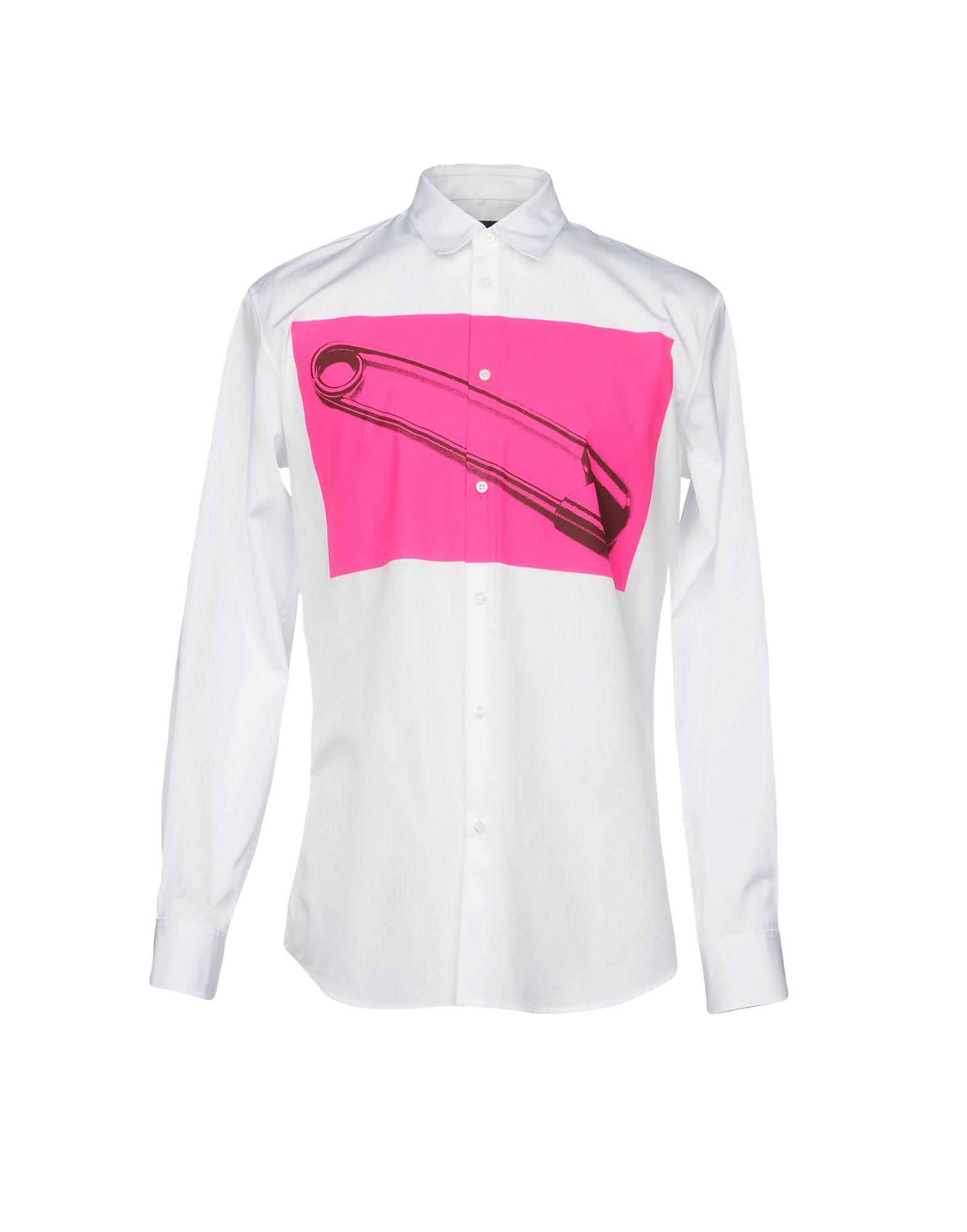 DSQUARED2 Herren Hemd Farbe Weiß Größe 5 - broschei