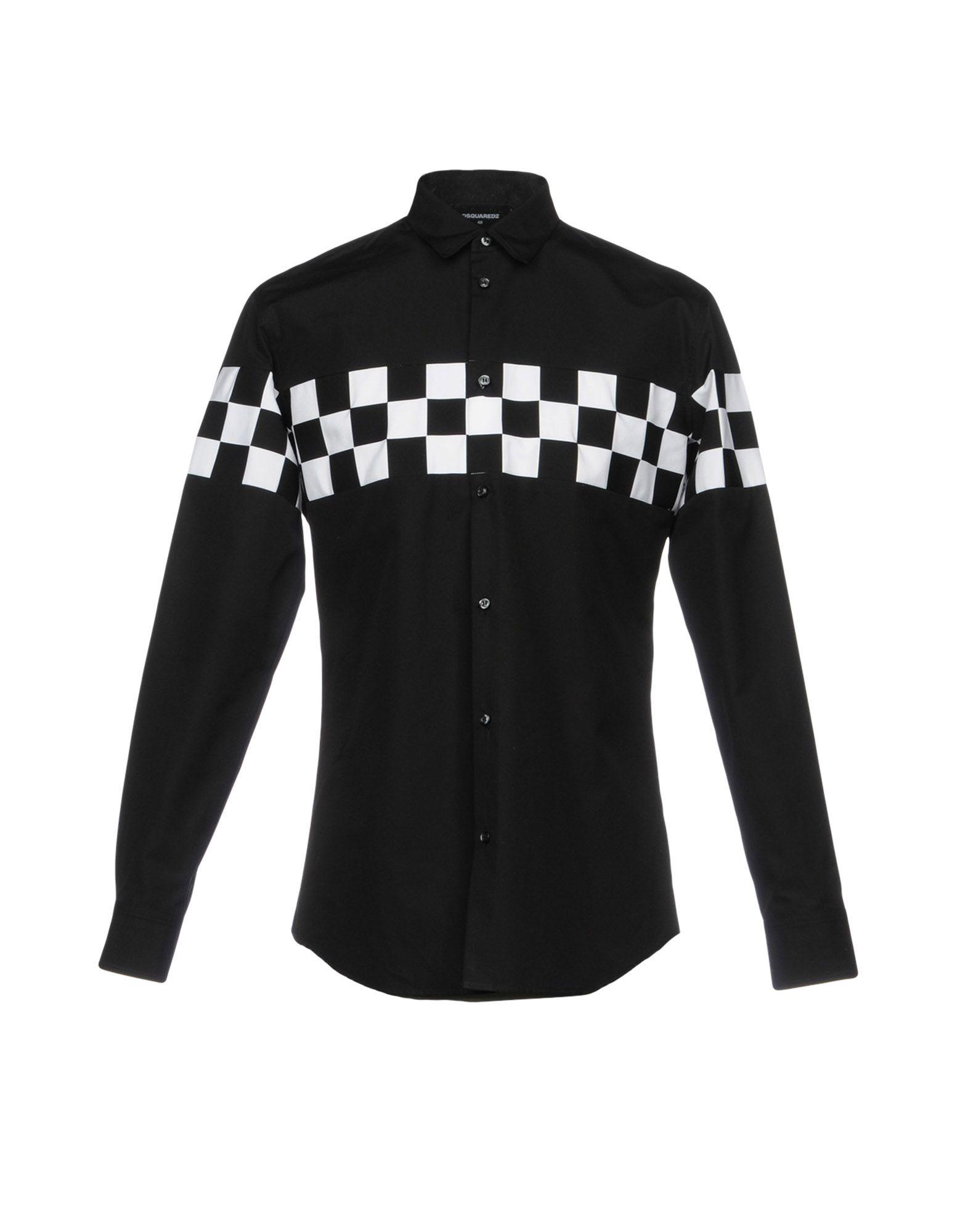 DSQUARED2 Herren Hemd Farbe Schwarz Größe 4 - broschei