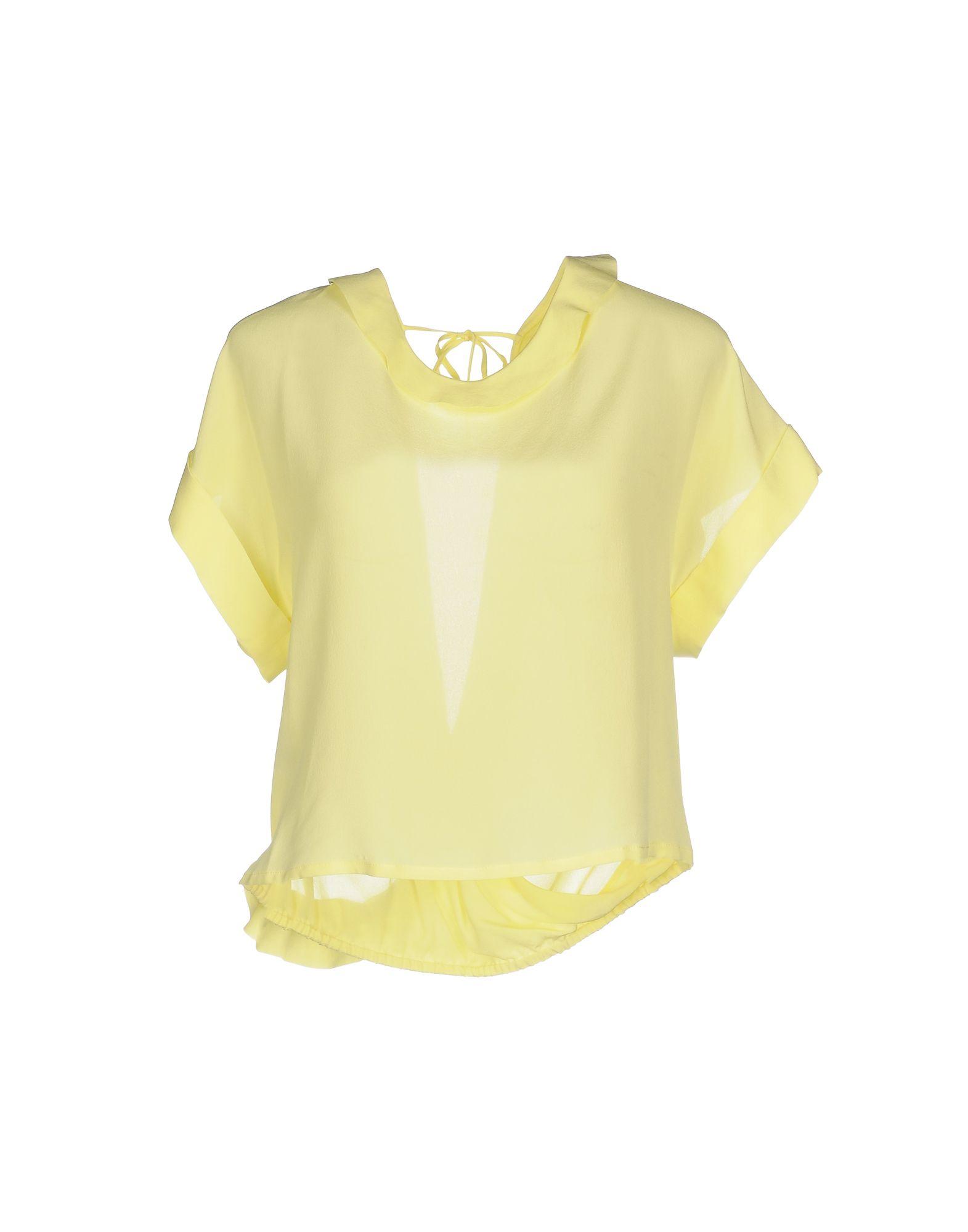 PINKO Damen Bluse Farbe Gelb Größe 6 - broschei