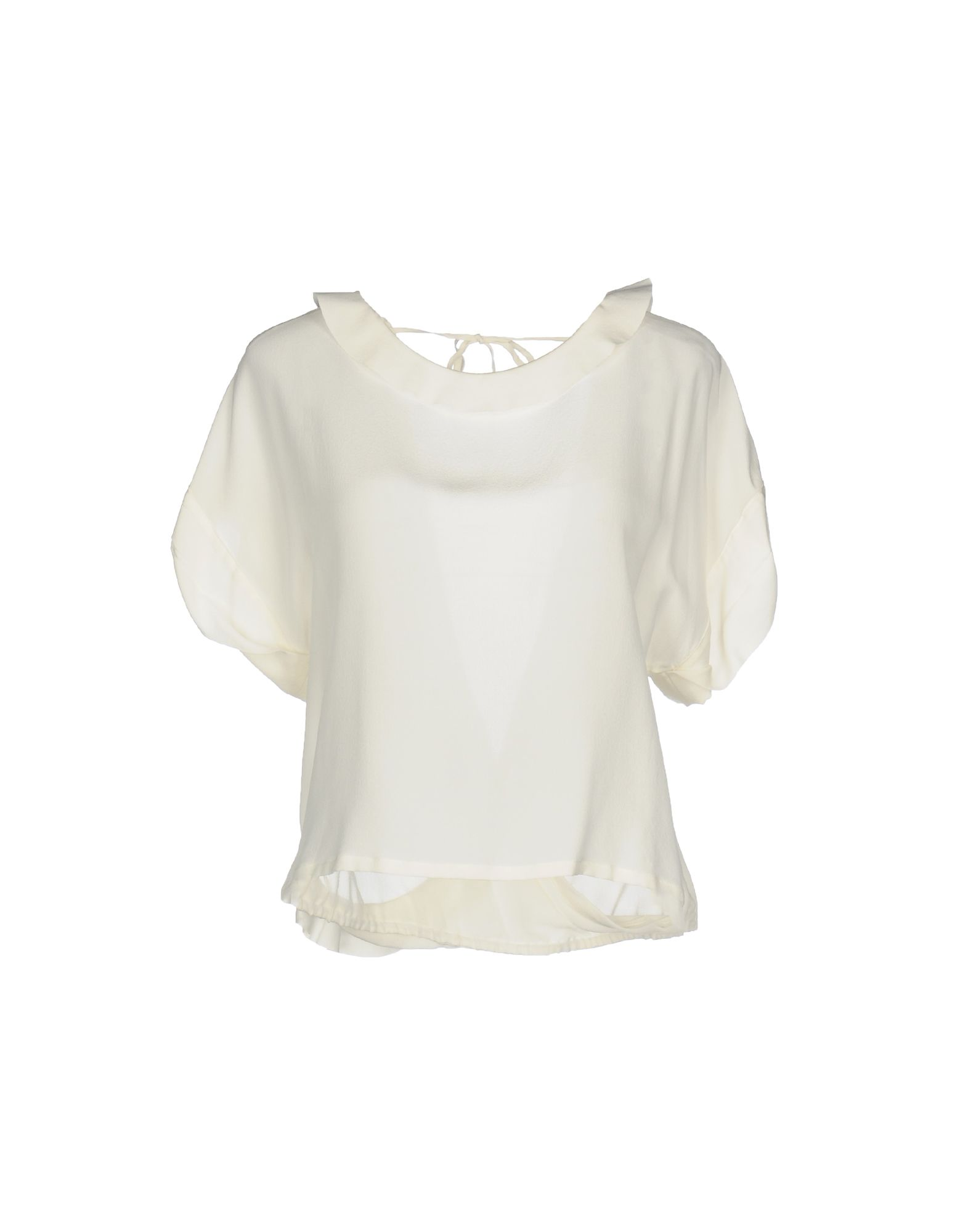 PINKO Damen Bluse Farbe Elfenbein Größe 2 - broschei