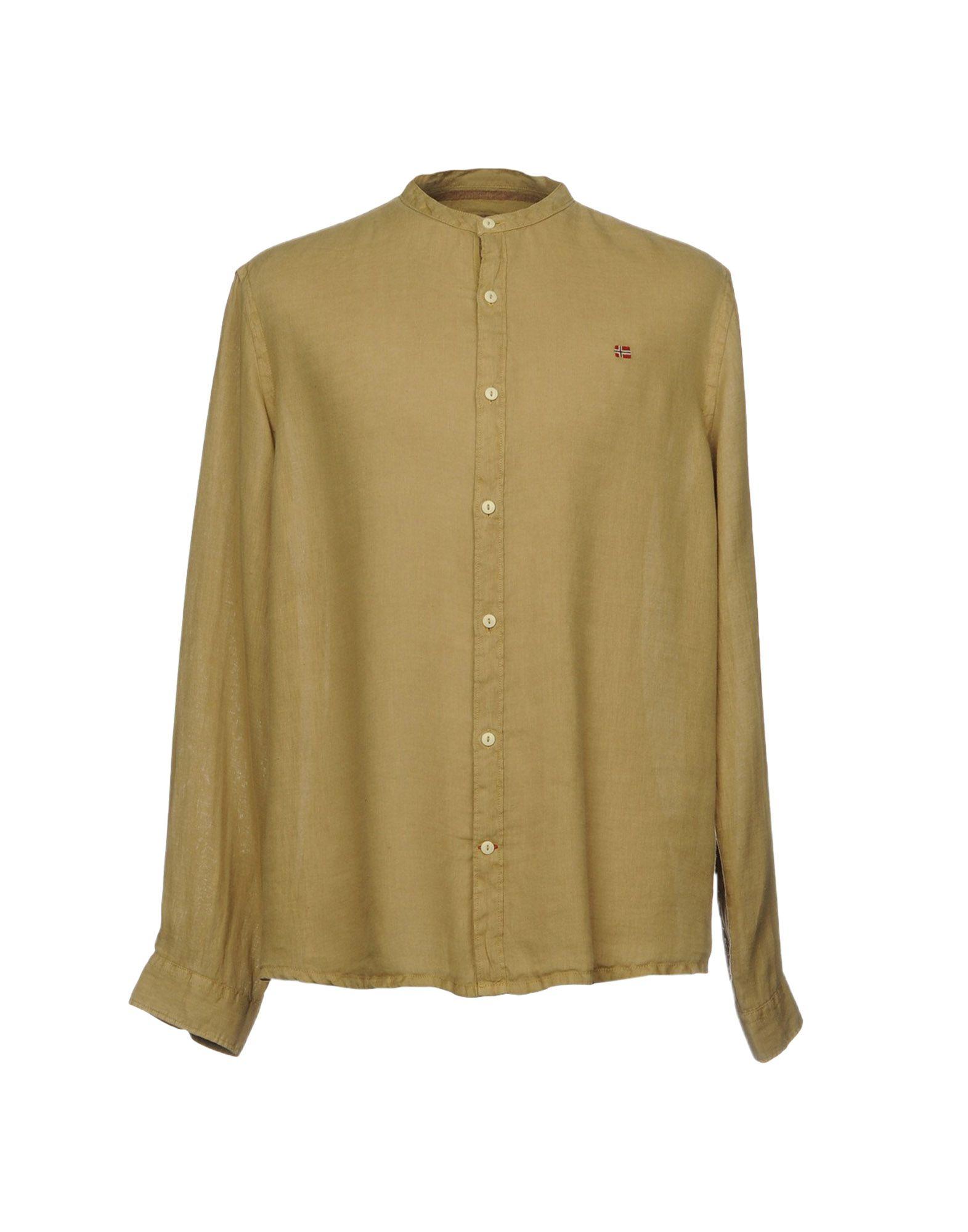 NAPAPIJRI Herren Hemd Farbe Khaki Größe 8 jetztbilligerkaufen