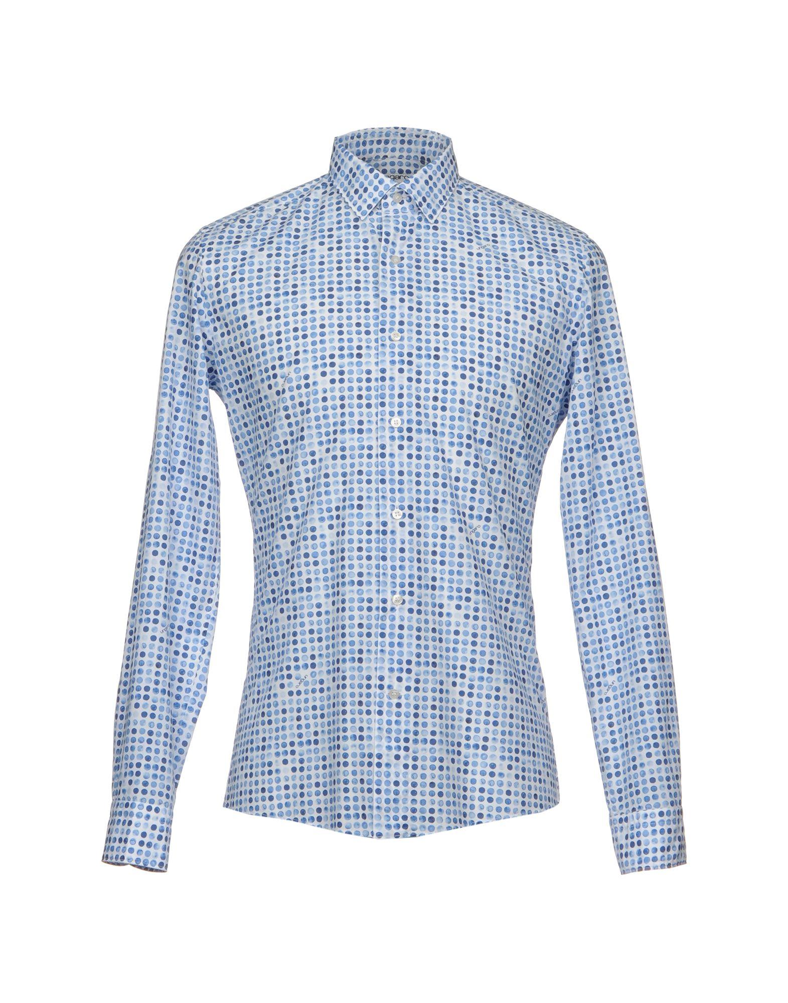 UNGARO Herren Hemd Farbe Blau Größe 4 - broschei