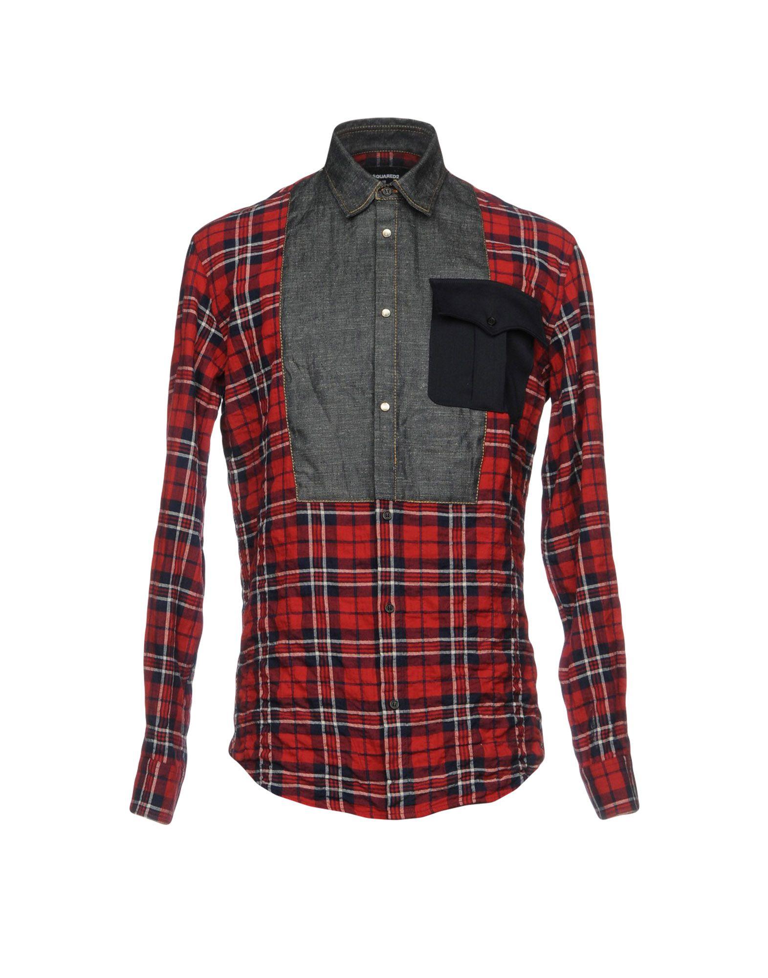 DSQUARED2 Herren Hemd Farbe Rot Größe 5 - broschei