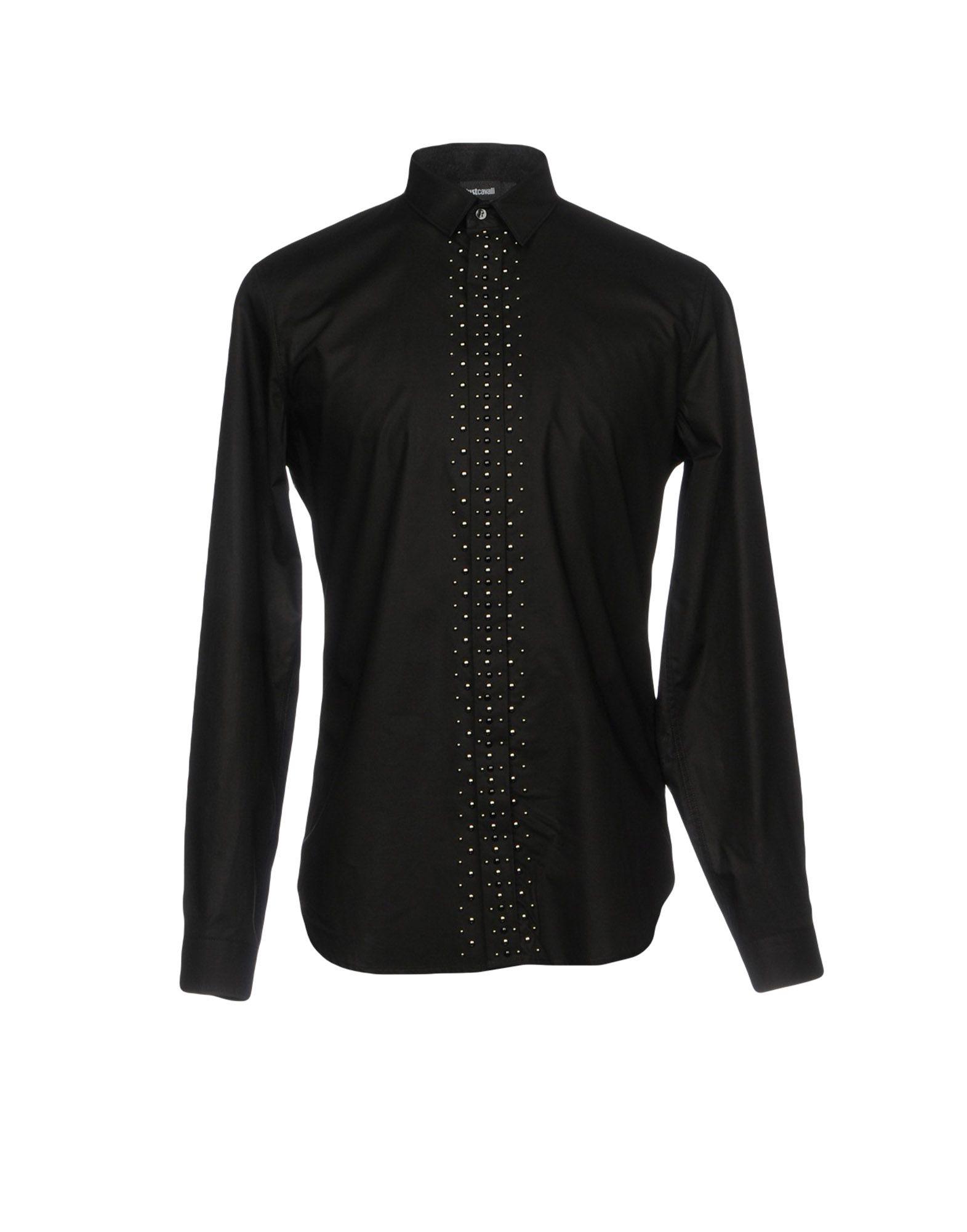JUST CAVALLI Herren Hemd Farbe Schwarz Größe 4 - broschei