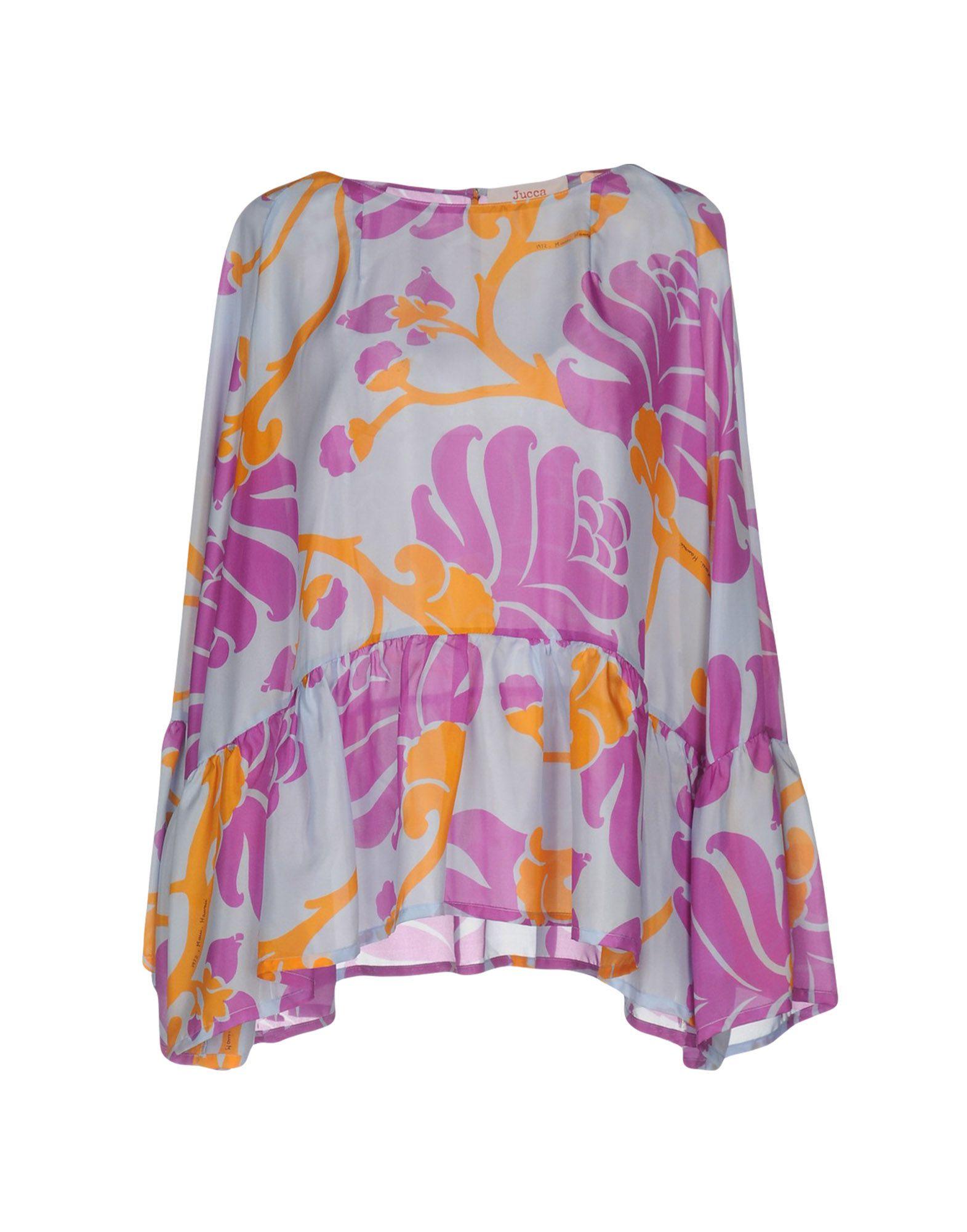 JUCCA Damen Bluse Farbe Lila Größe 4 - broschei