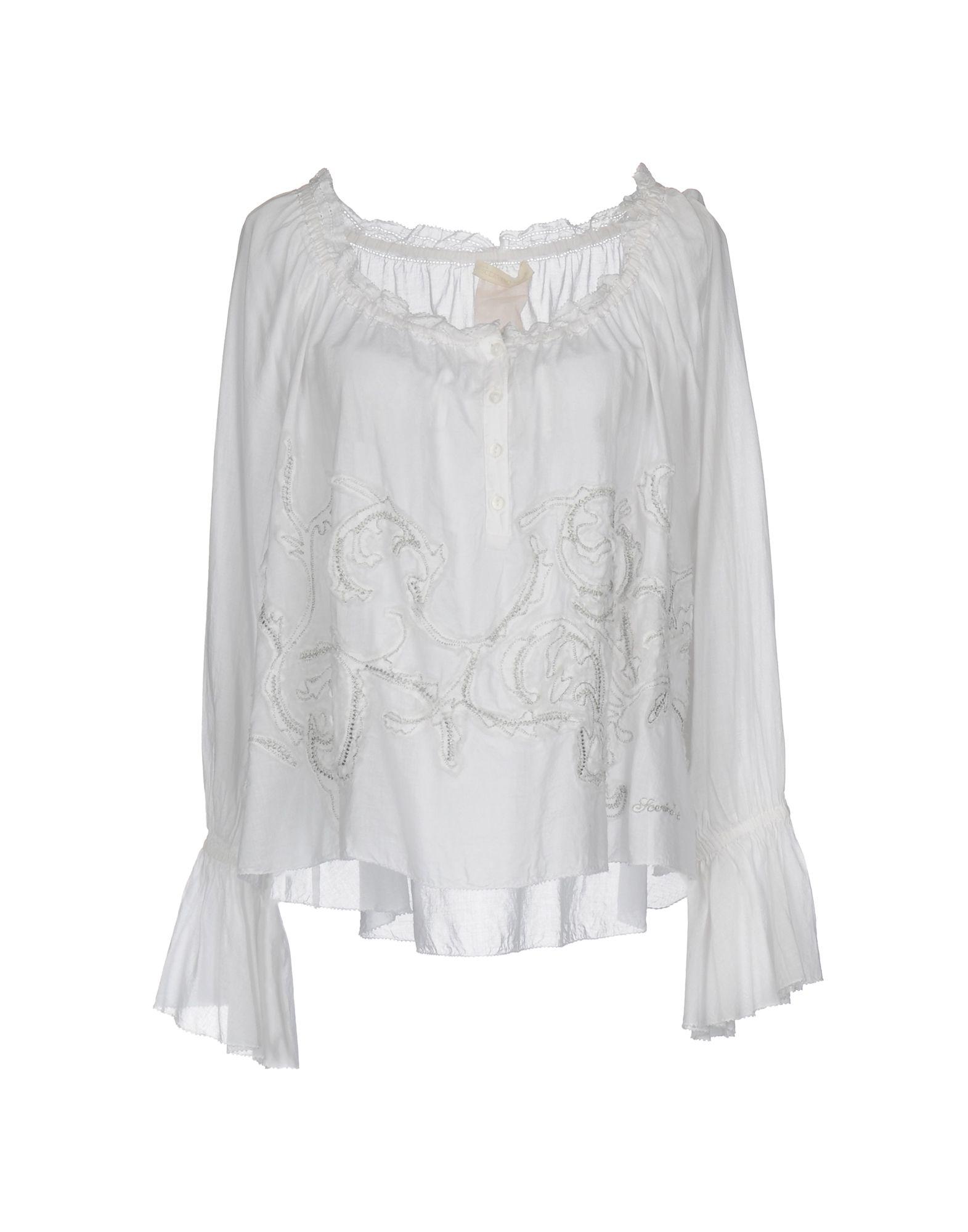 SCERVINO STREET Damen Bluse Farbe Weiß Größe 3 jetztbilligerkaufen