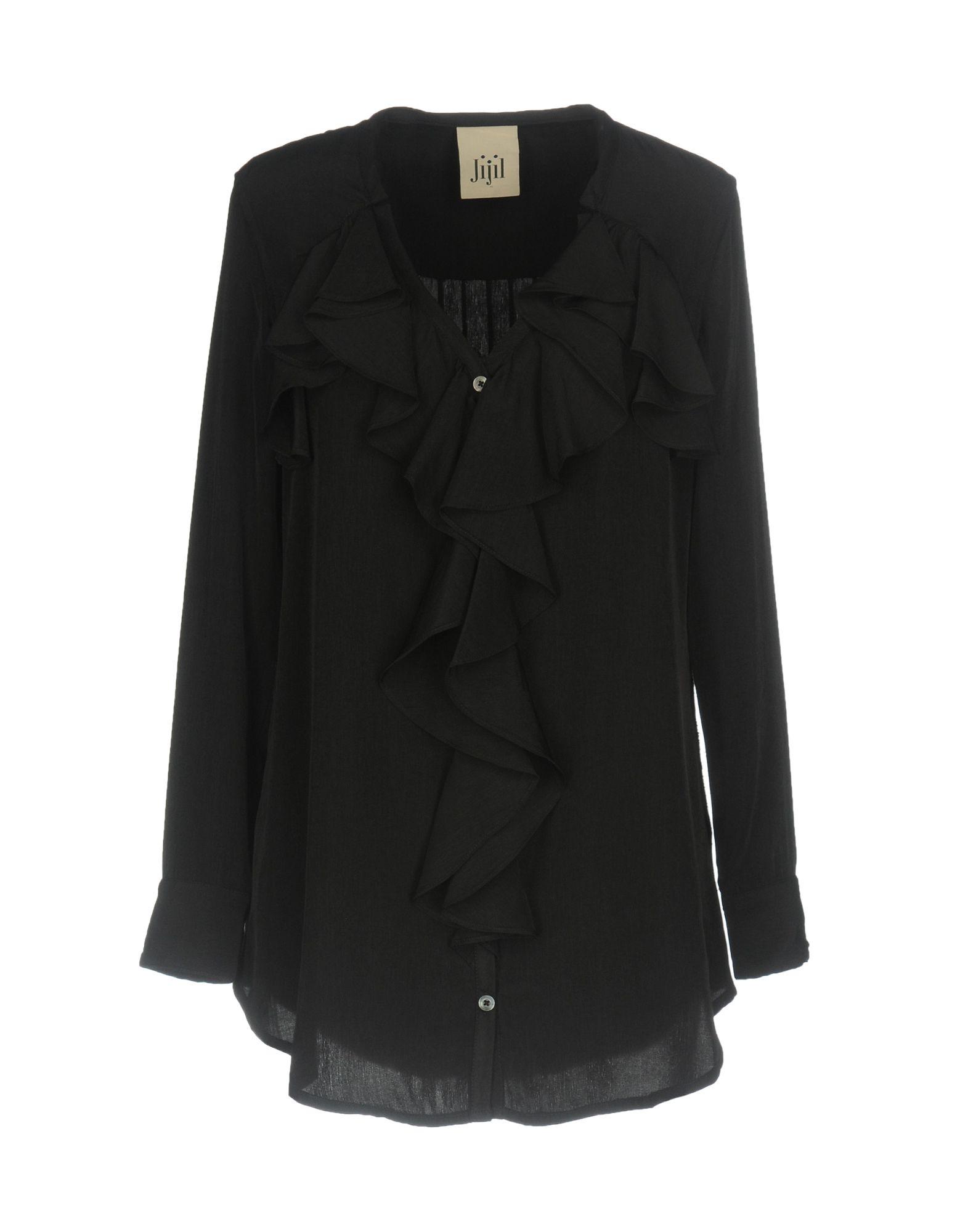 JIJIL Damen Hemd Farbe Schwarz Größe 6 - broschei