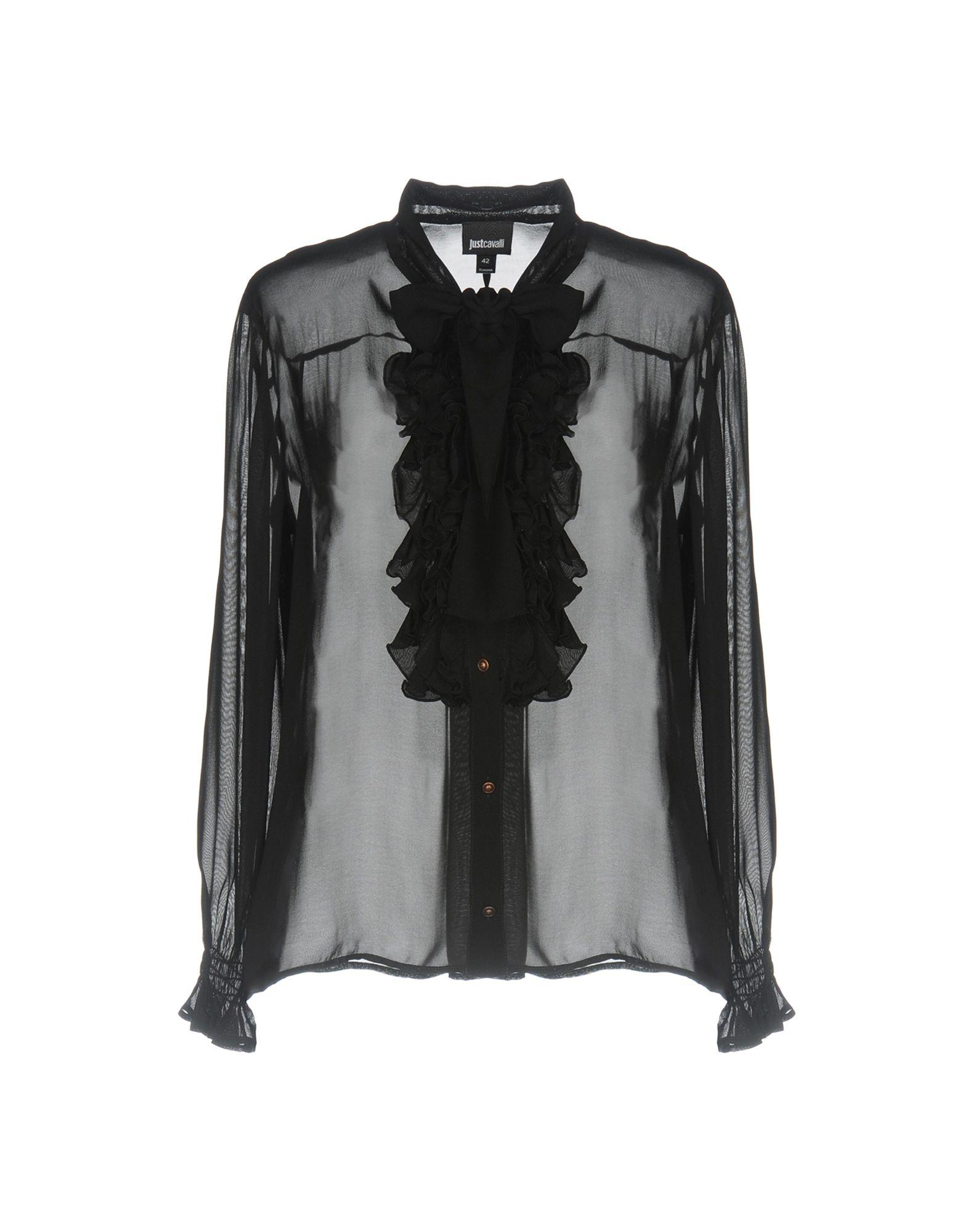 JUST CAVALLI Damen Hemd Farbe Schwarz Größe 5 - broschei