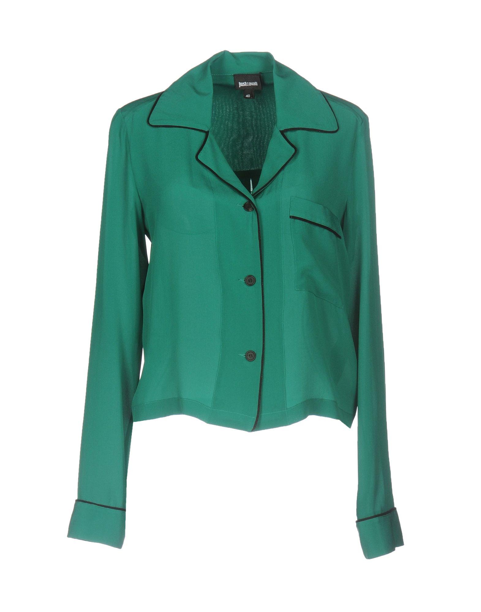 JUST CAVALLI Damen Hemd Farbe Grün Größe 3 - broschei