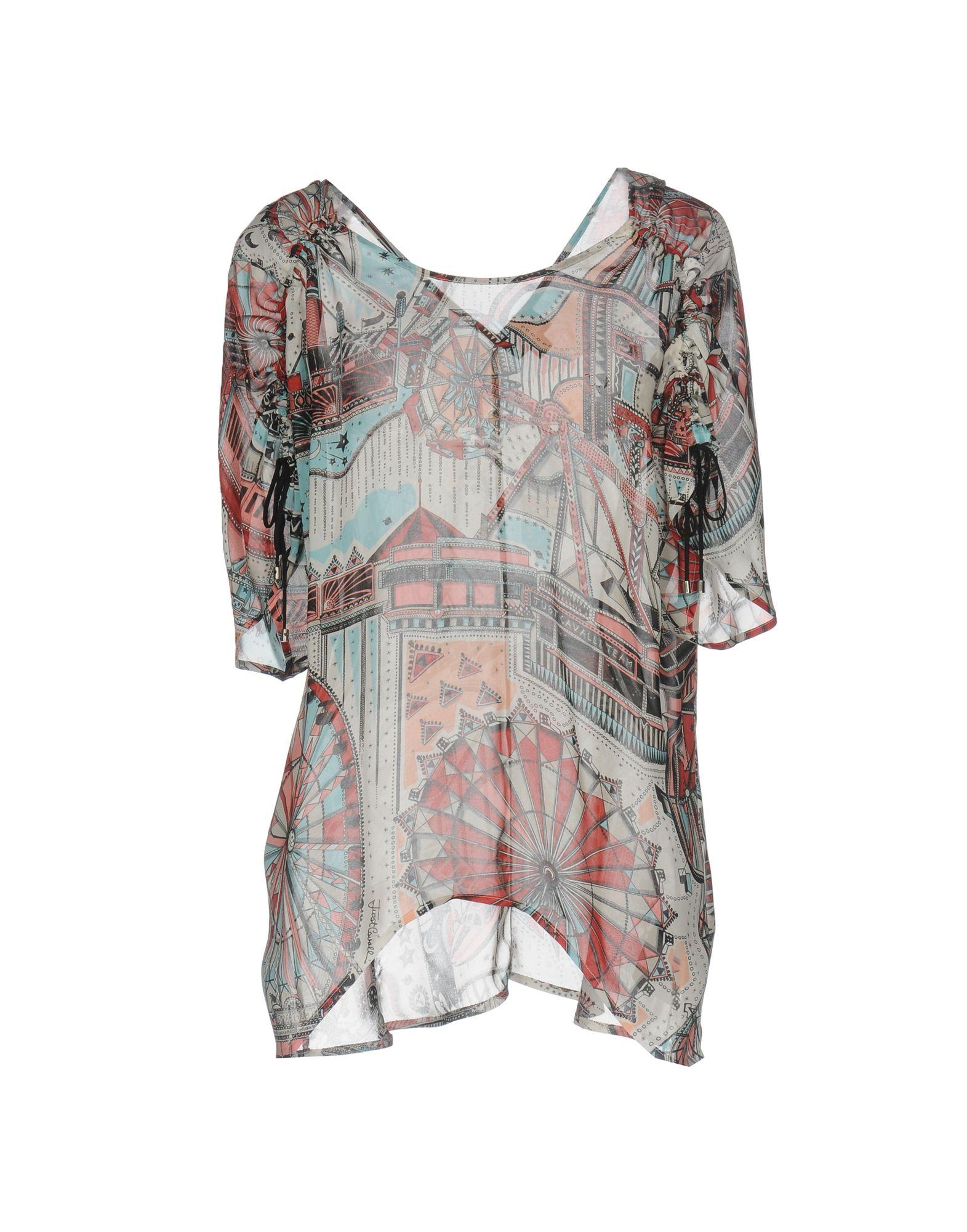 JUST CAVALLI Damen Bluse Farbe Ziegelrot Größe 4 - broschei