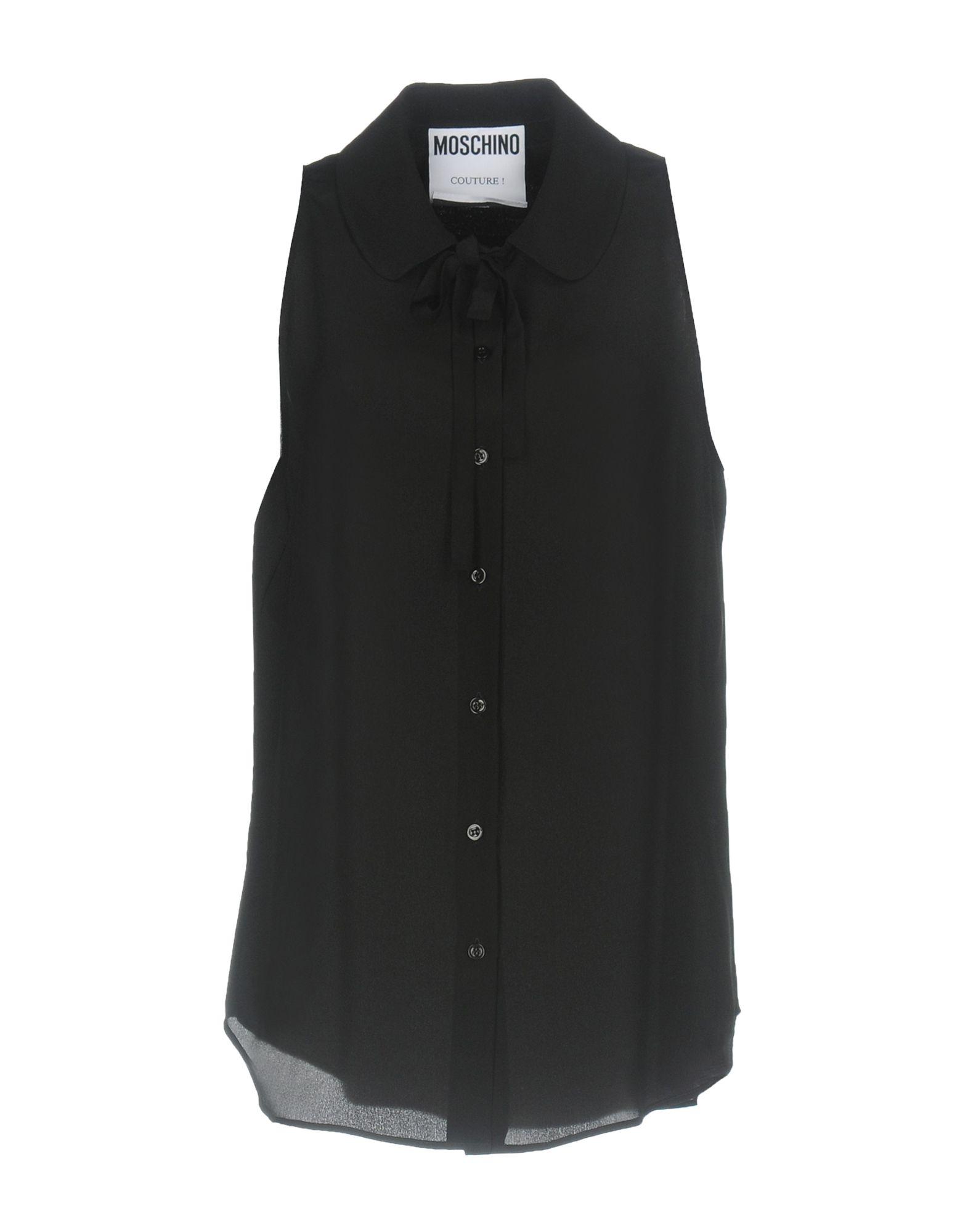 MOSCHINO COUTURE Damen Hemd Farbe Schwarz Größe 6 - broschei