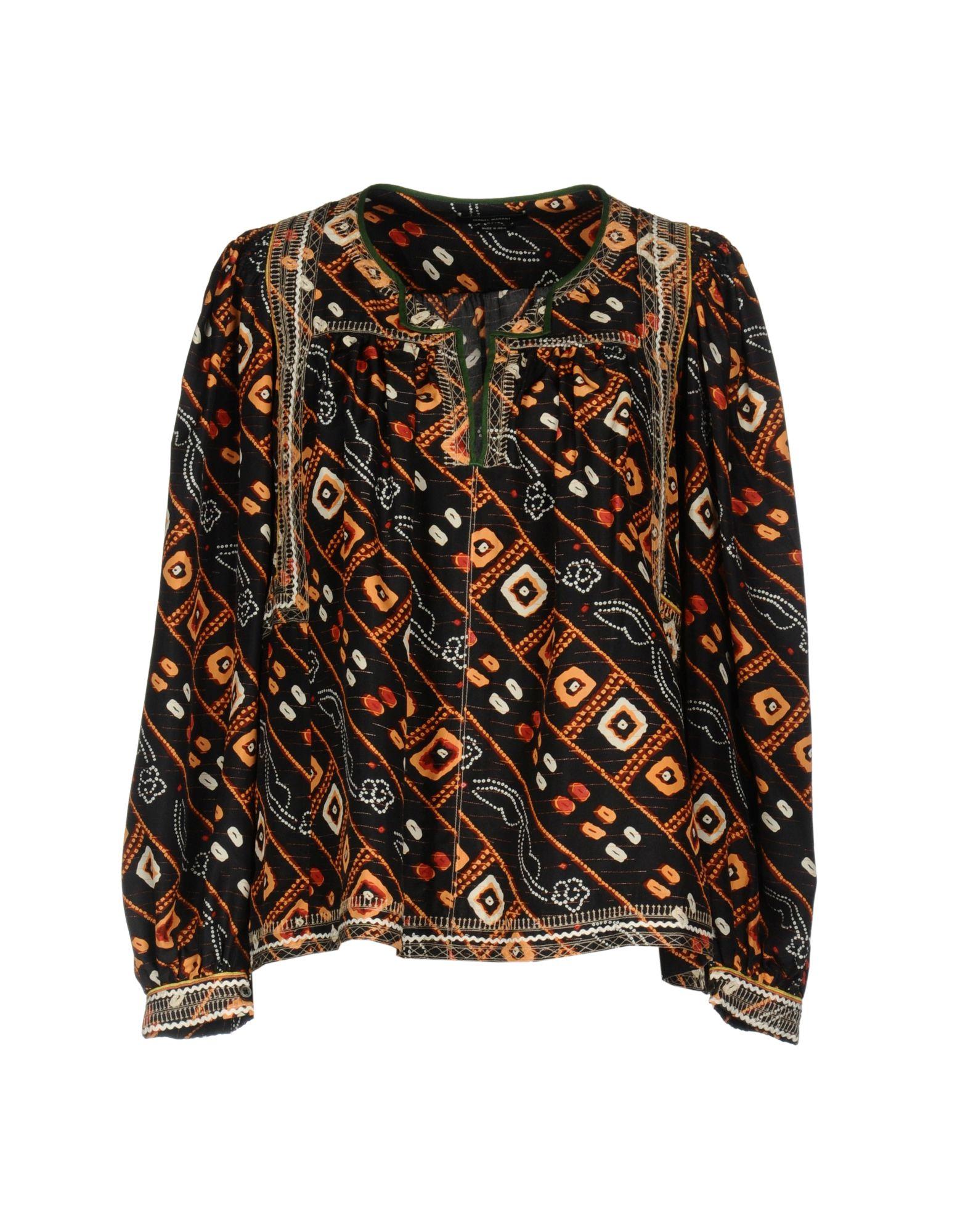 ISABEL MARANT Damen Bluse Farbe Schwarz Größe 2