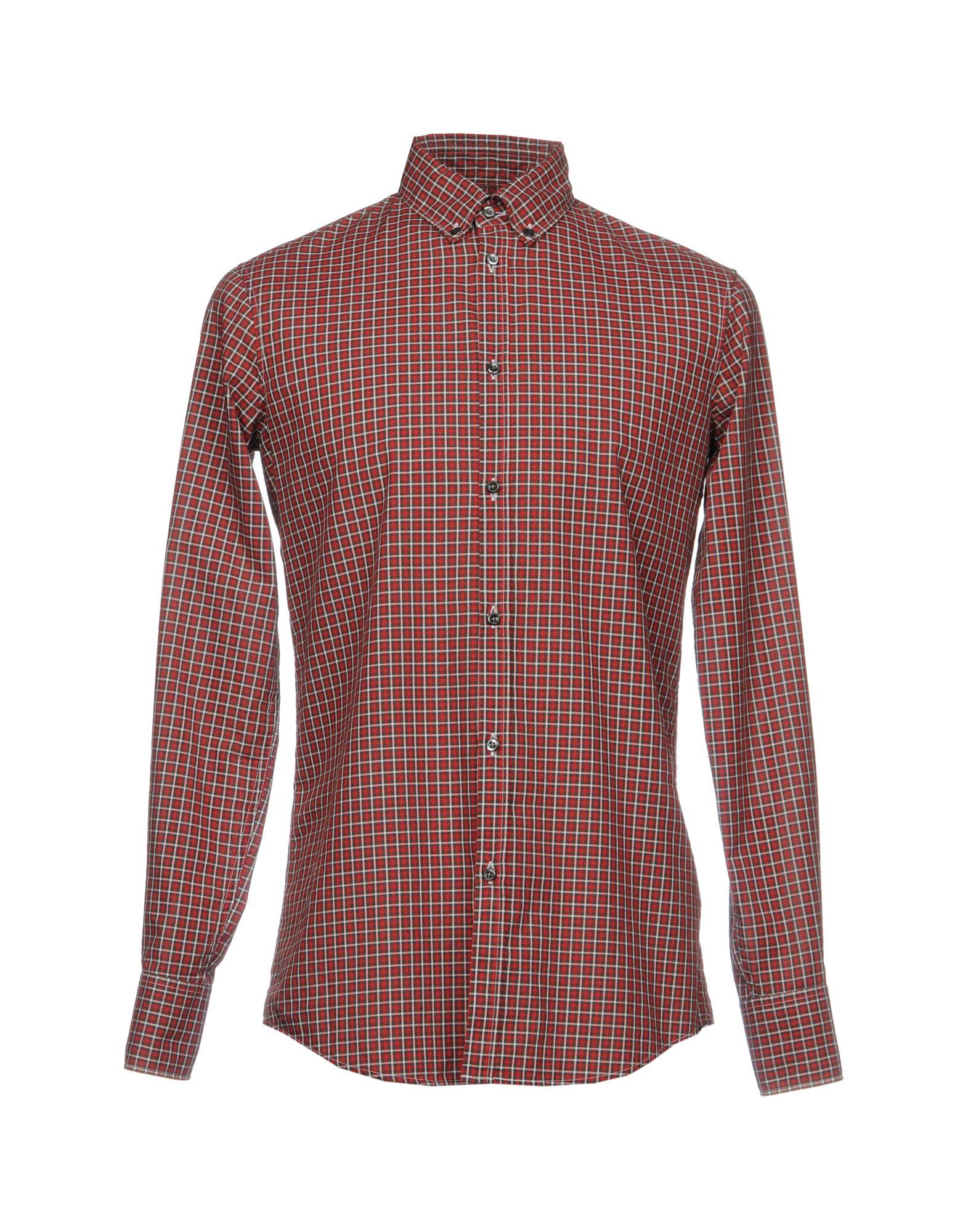 DSQUARED2 Herren Hemd Farbe Ziegelrot Größe 6