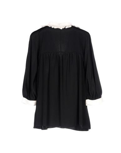 Фото 2 - Женскую блузку MAYLE черного цвета