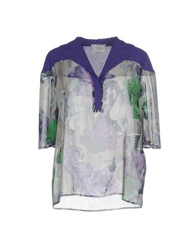 VERSACE COLLECTION Damen Bluse Violett Größe 34 100% Polyester