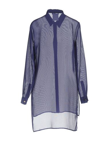 VERSACE COLLECTION Damen Hemd Violett Größe 34 53% Polyester 31% Rayon 16% Triacetat