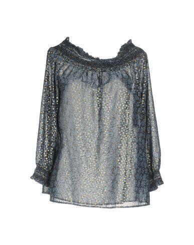 Фото - Женскую блузку  грифельно-синего цвета