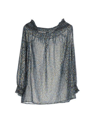 Фото 2 - Женскую блузку  грифельно-синего цвета