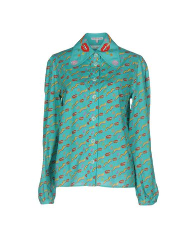 Купить Pубашка от OLYMPIA LE-TAN бирюзового цвета