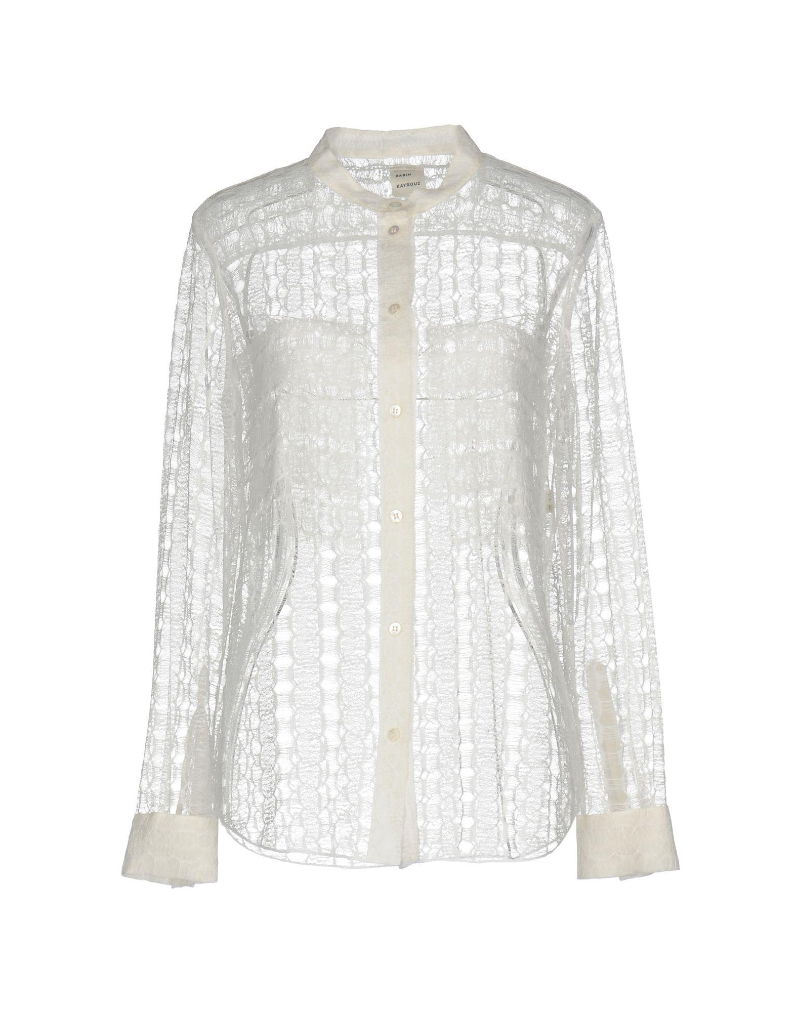 MAISON RABIH KAYROUZ Damen Hemd Farbe Weiß Größe 5
