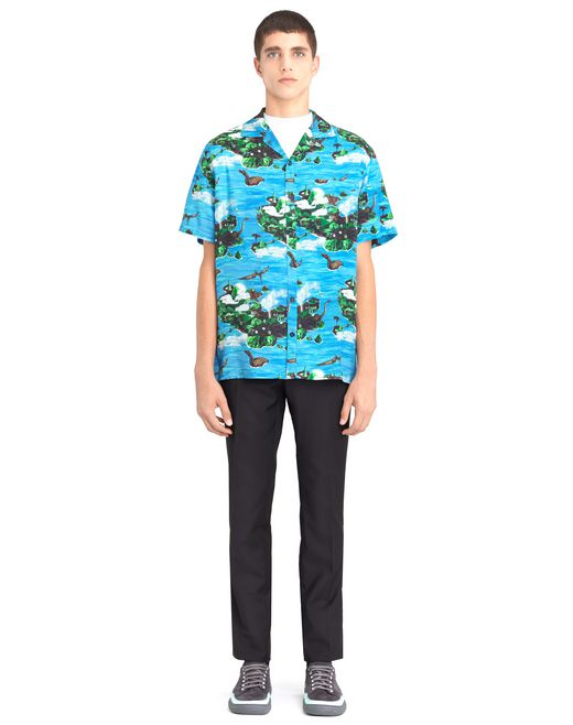 "lanvin ""hawaiian fantastic"" bowling shirt men"