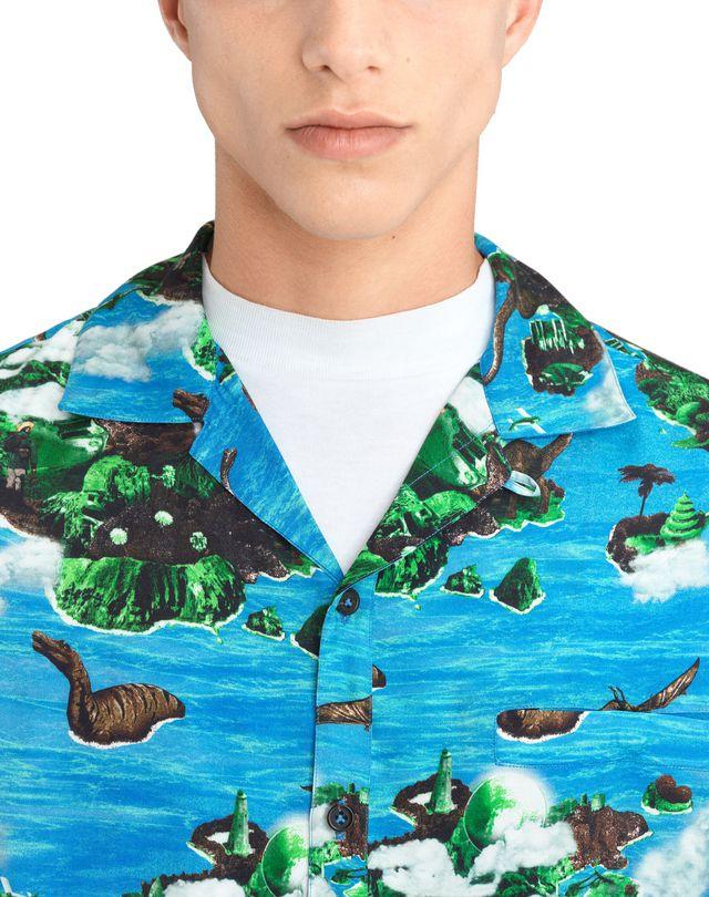 "LANVIN ""HAWAIIAN FANTASTIC"" BOWLING SHIRT Shirt U a"