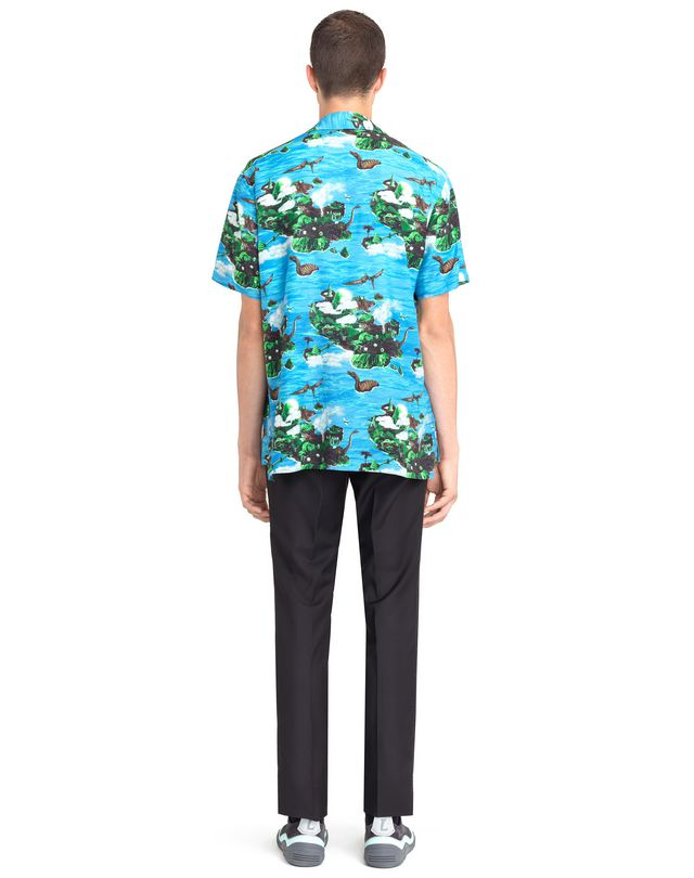 "LANVIN ""HAWAIIAN FANTASTIC"" BOWLING SHIRT Shirt U d"