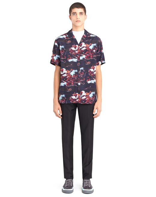 "lanvin ""hawaiian fantastic"" bowling shirt men"