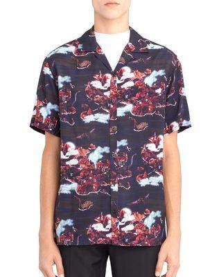 "LANVIN ""HAWAIIAN FANTASTIC"" BOWLING SHIRT Shirt U f"