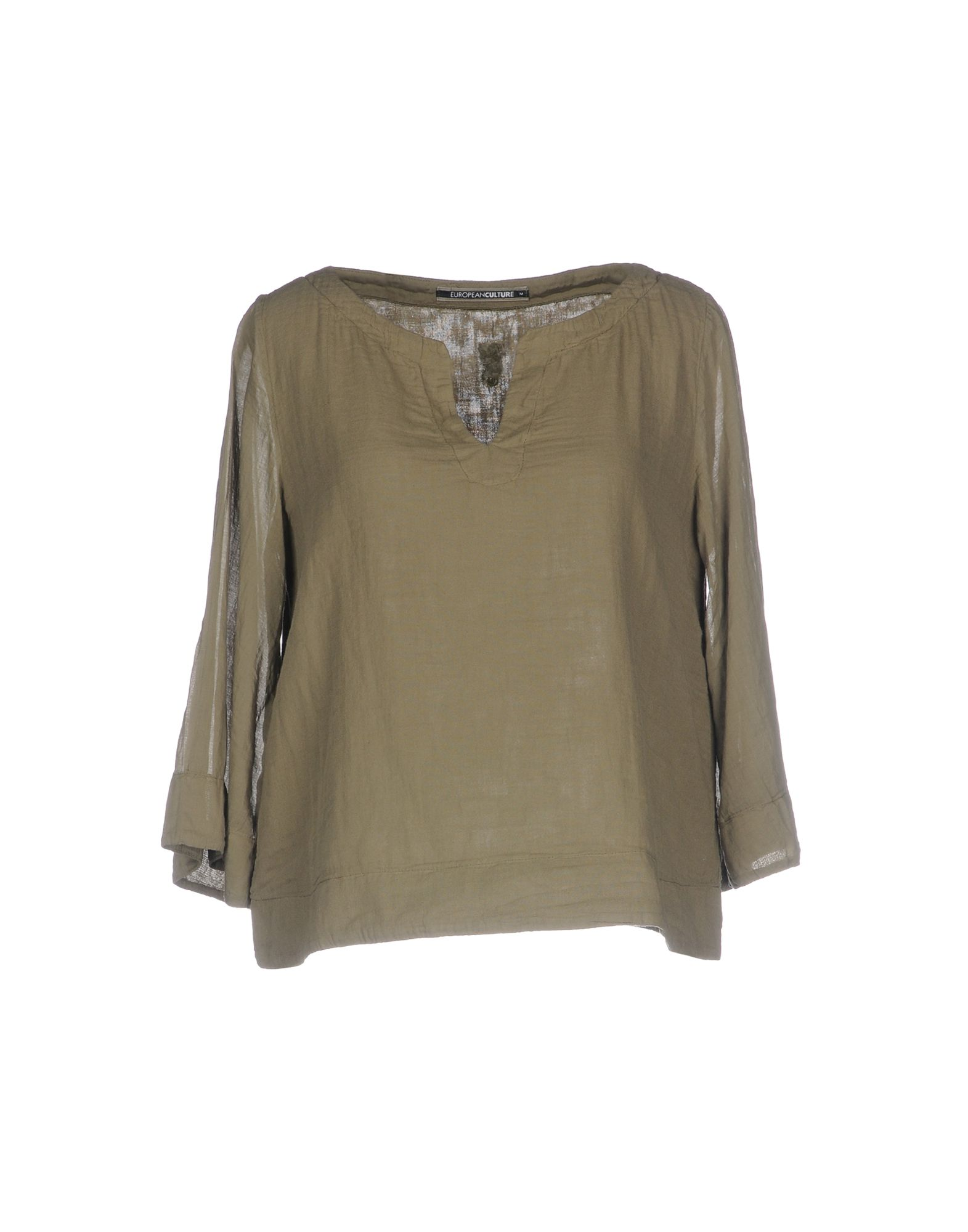 EUROPEAN CULTURE Damen Bluse Farbe Militärgrün Größe 6