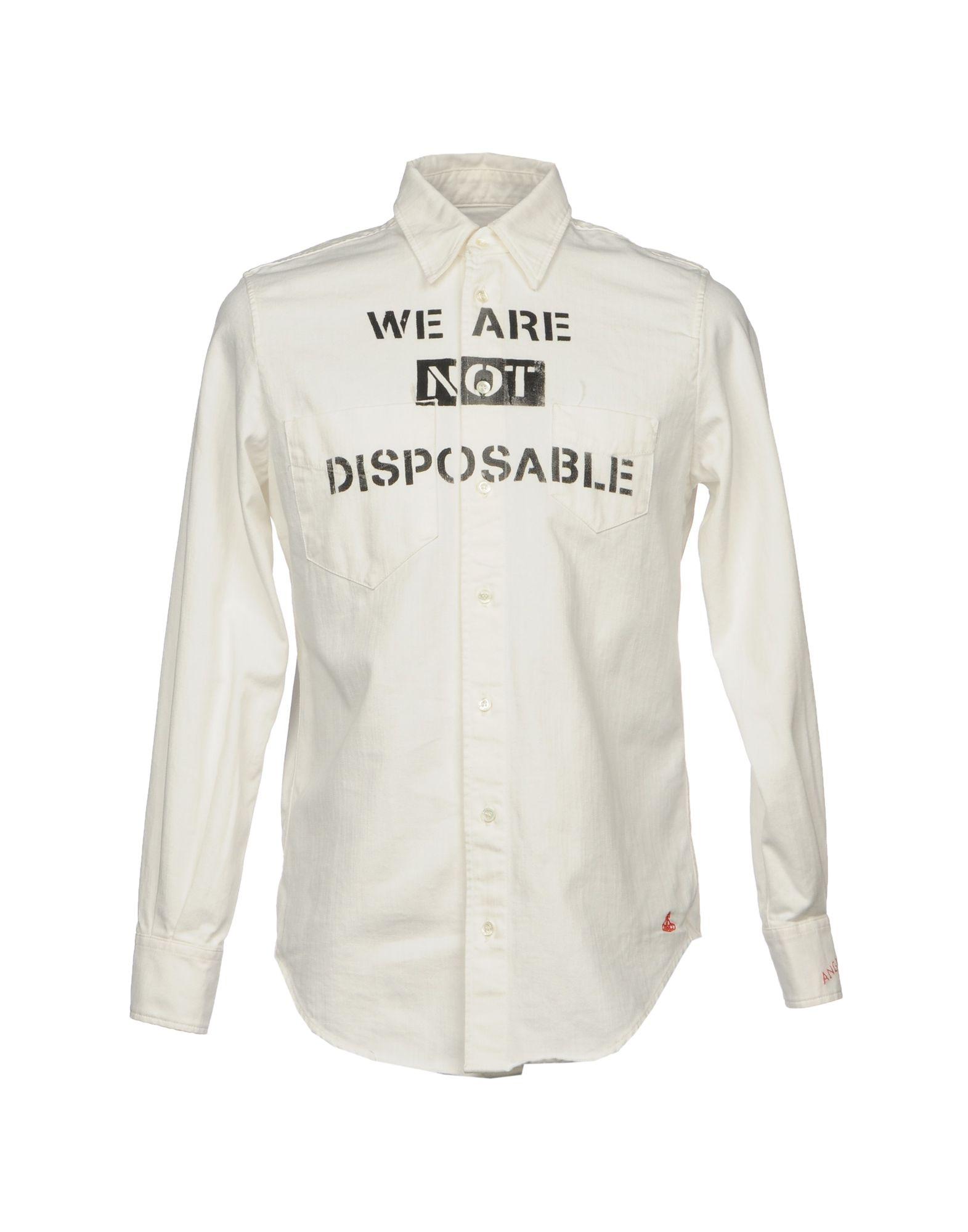 Фото VIVIENNE WESTWOOD ANGLOMANIA Джинсовая рубашка. Купить с доставкой