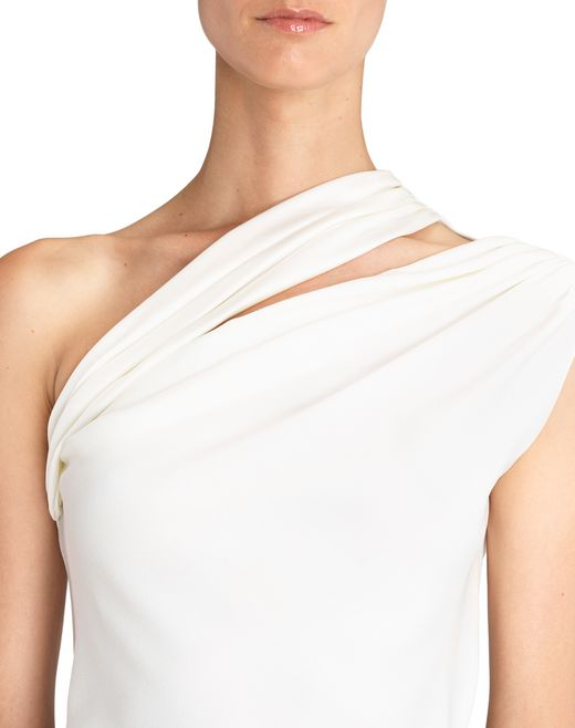 lanvin asymmetrical top women