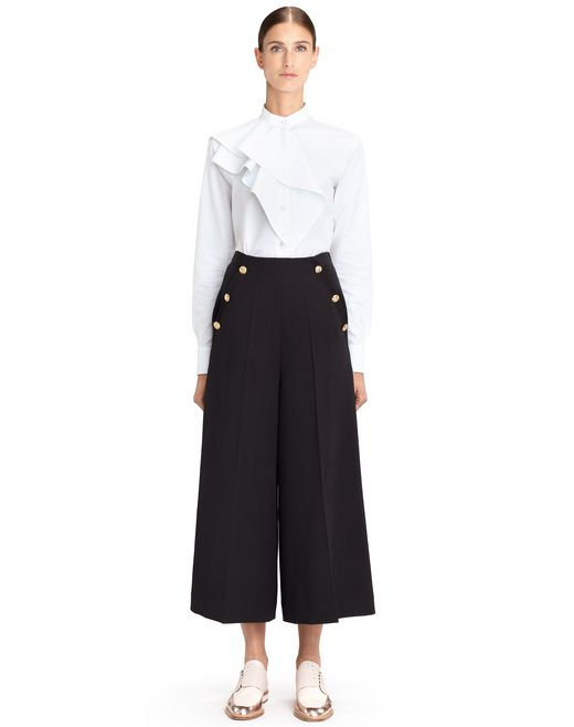 POPLIN SHIRT WITH RUFFLES - Lanvin
