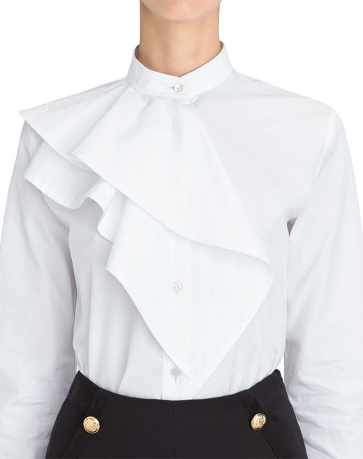 lanvin poplin shirt with ruffles women