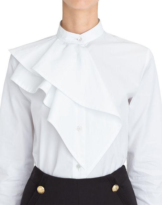 lanvin chemise popeline  à volants femme