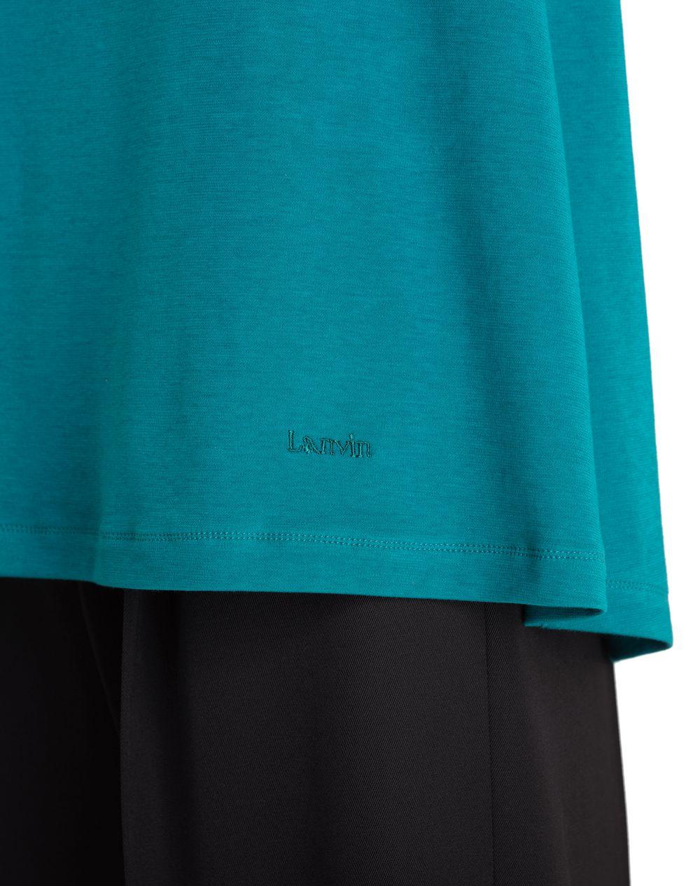PEACOCK BLUE FRILL TOP - Lanvin