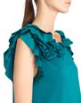 LANVIN Top Woman PEACOCK BLUE FRILL TOP f
