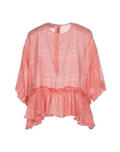 Фото 2 - Женскую блузку MSGM красного цвета
