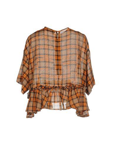Фото 2 - Женскую блузку MSGM оранжевого цвета