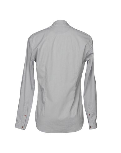Фото 2 - Pубашка от OFFICINA 36 светло-серого цвета